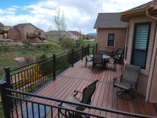 Trex Trancend Decking, Fortress FE26 Railing, Trex Elevations Framing