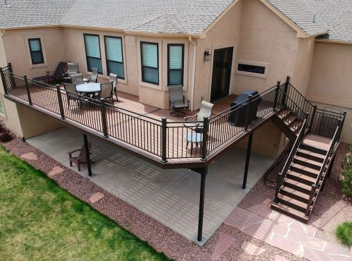 Monument Deck Builder, Fortress Evolution Framing, StoneCroft Construction, StoneCroft Steel Frame Stairs, Deck Installer Monument Colorado, Composite Deck Monument Colorado, Steel Frame Deck Monument Colorado, Deck Contractor Monument Colorado, Custom De
