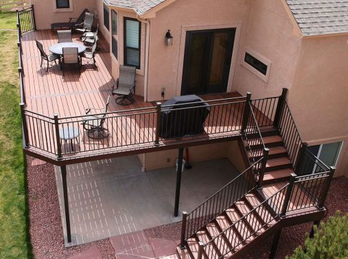 Trex Enhance Decking, Fortress FE26 Railing, Cedar Pergola