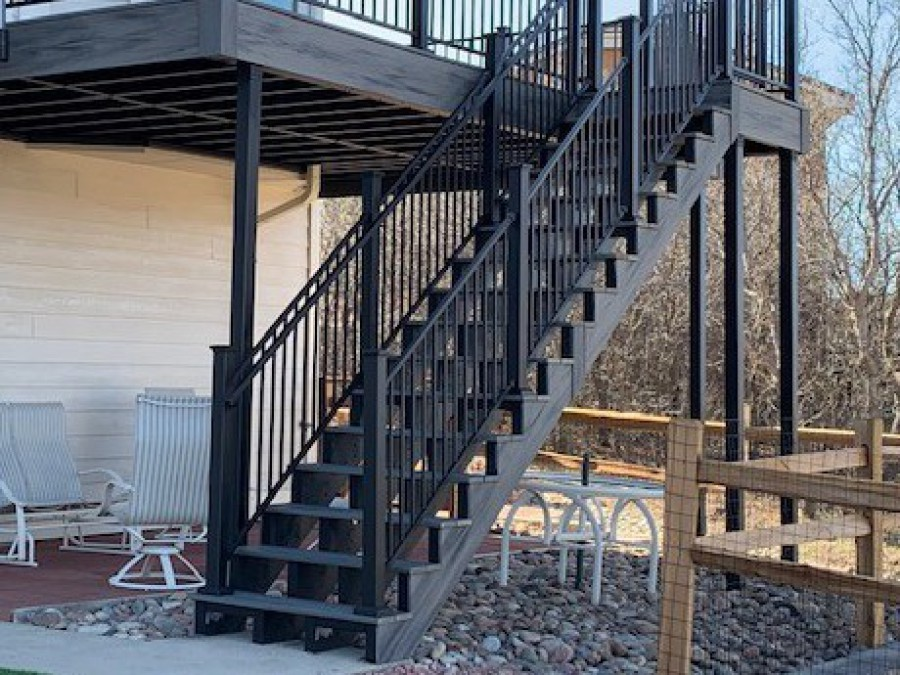 Fortress Evolution Steel Framing, StoneCroft Steel Frame Stairs, Fortress Railing, StoneCroft Construction, Steel frame Stairs Colorado Springs, Steel Frame Deck Colorado Springs, Steel Frame Stair Stringer, Deck Builder Colorado Springs, Colorado Springs