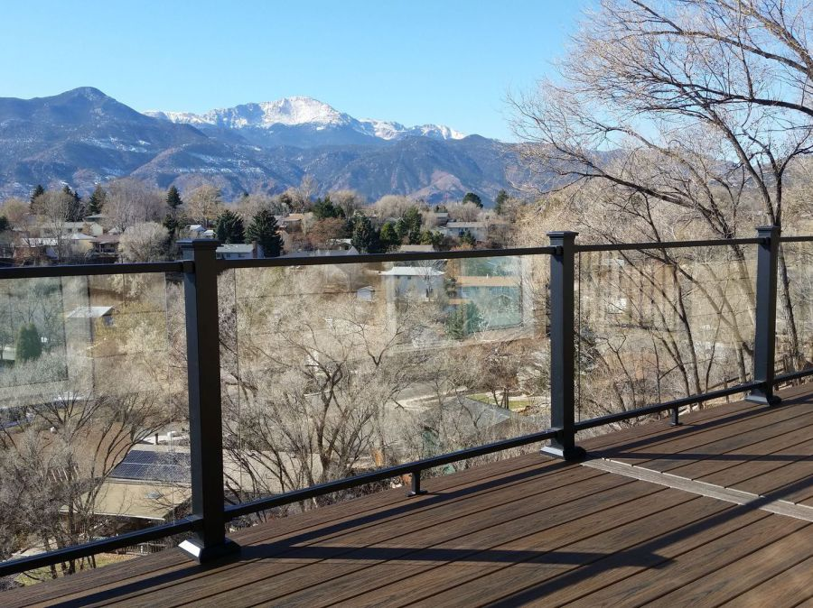 StoneCroft Construction, Colorado Springs, Fortress Evolution Steel Framing, Fortress Railing, Trex Transcend Decking, Picture Frame