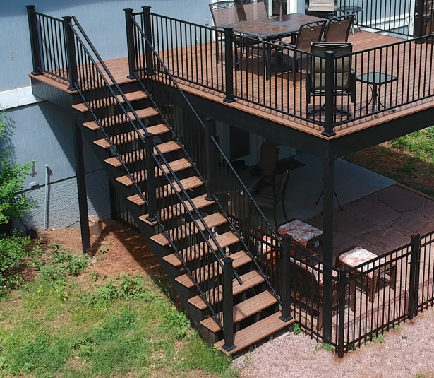 StoneCroft Steel Frame Stairs, Fortress Evolutions Deck Framing, Envision Decking, FE26 Railing