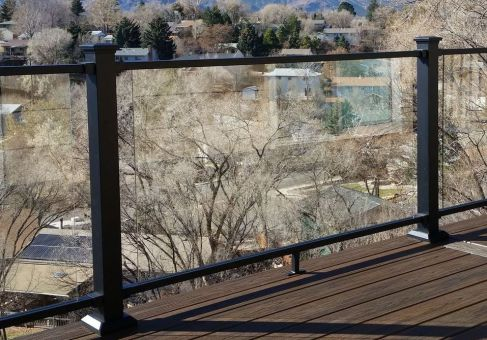 Fortress Evolutions Steel Framing, Glass Railing Installer Colorado Springs, Glass Deck Railing, StoneCroft Construction
