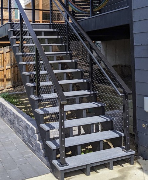 Cable Deck Railing, Cable Railing Colorado Springs, StoneCroft Construction, StoneCroft Steel Frame Stairs, Colorado Springs Cable Railing Installer, Cable Railing Installer Colorado Springs, Cable Railing Monument Colorado, Deck Builder Colorado Springs,