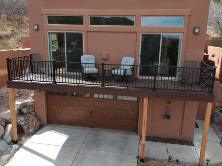 Trex Transcend Decking, Trex Elevations Steel Framing, Trex Aluminum Signature railing