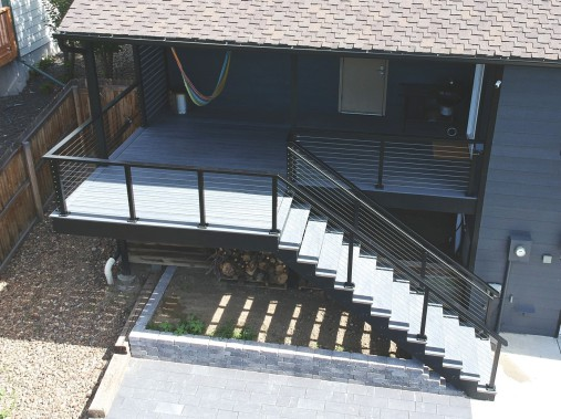 Fortress FE26 Railing, Trex Enhance Decking