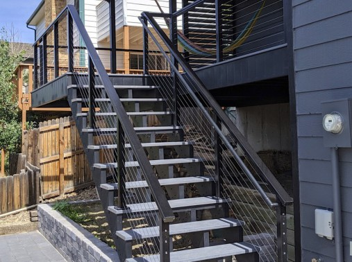 Fortress FE26 Railing, Trex Transcend Decking