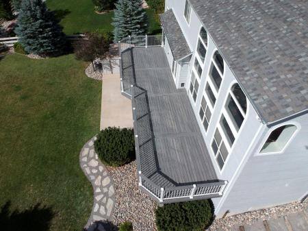 Monument Deck Installer, StoneCroft Construction, Fortress Evolutions Steel Framing, Fortress White Aluminum Railing, Trex Transcend Island Mist Decking, Deck Installer Monument Colorado, Composite Deck Monument Colorado, Trex Deck Monument Colorado, Trex