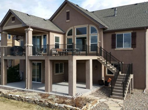 Colorado Springs Trex Deck Builder, Fortress Evolutions Steel Framing, FE26 Railing, Trex Transcend Decking